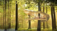 One-bedroom dwellings now being designed by Toronto architect Tye Farrow for the forested grounds of the five-star E'terra Samara eco-resort on the Bruce Peninsula. (Farrow Partnership Architects Inc.)