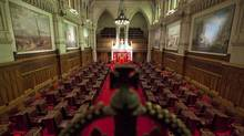 A view of the Senate chamber on Parliament Hill in Ottawa on Jan. 13, 2011. Members of the committee that polices Senate expenses have called in two senators for private interviews, raising to six the number of senators whose spending of public funds has come into question this year. (Sean Kilpatrick/The Canadian Press)