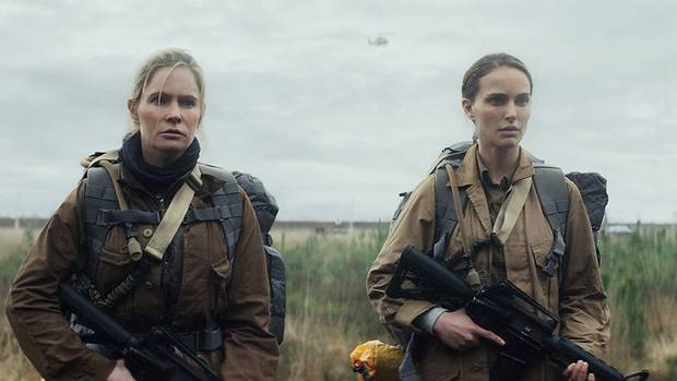 Jennifer Jason Leigh and Natalie Portman are seen in Annihilation, which appears to be setting a precedent for release and distribution – particularly more challenging and auteur-driven genre fare.