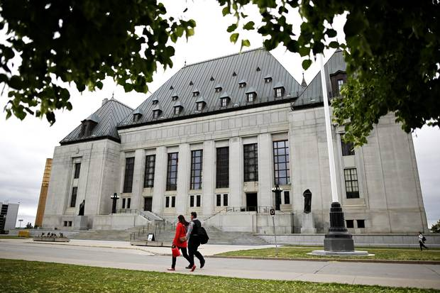 The Supreme Court of Canada in Ottawa on June 8, 2016.