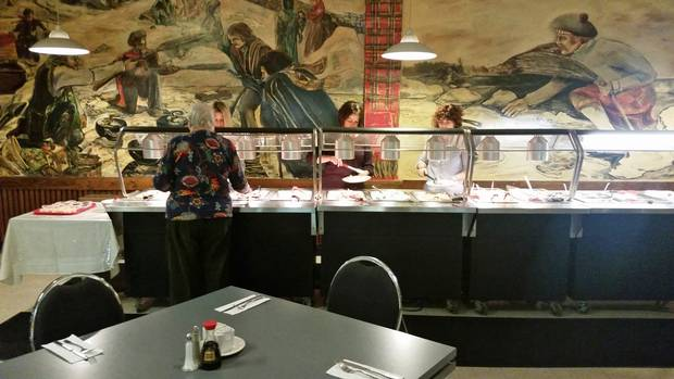 The curling-rink location of Ling Lee's Chinese Cuisine, with a backdrop of a mural depicting historical figures throwing curling stones, helps make it part of the fabric of the community in Thunder Bay, Ont.