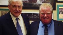 Conrad Black and Mayor Rob Ford. (VisionTV/ZoomerMedia Limited)