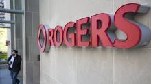 The front entrance to Rogers Communications in Toronto. (Tim Fraser/Tim Fraser for The Globe and Mail)
