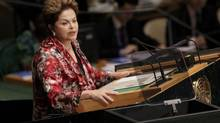 Brazil's President Dilma Vana Rousseff addresses the 67th United Nations General Assembly at the U.N. headquarters in New York September 25, 2012. (SHANNON STAPLETON/REUTERS)