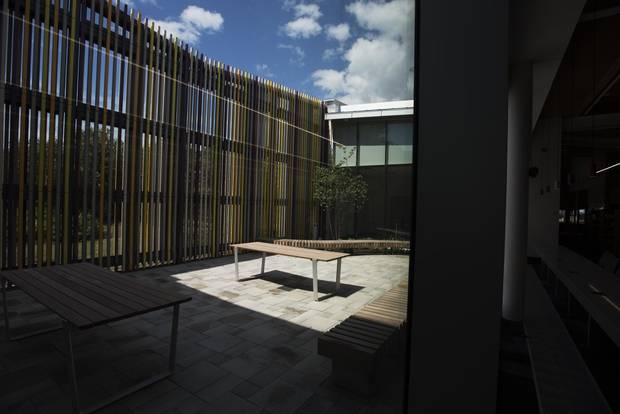 The Albion's interior isn't the only part of the library offering lots of light and space. Its courtyard does, too.