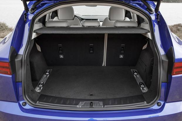 The E-Pace boasts impressive cargo space for a compact SUV.