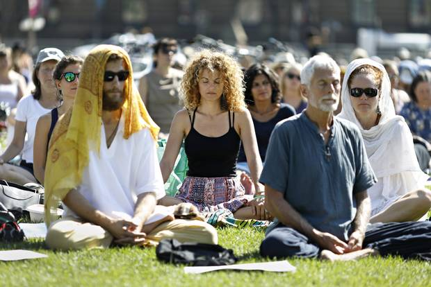 Group gatherings have become a trend in the mindfulness community.