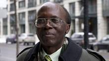 "Leon Mugesera is shown in Montreal on Federal Court Monday, January 9, 2012 in Montreal. Rwanda's chief prosecutor says a Quebec court's decision to delay the deportation of a man accused of helping incite genocide is a ""stinging insult"" to survivors. (Paul Chiasson/THE CANADIAN PRESS/Paul Chiasson/THE CANADIAN PRESS)"