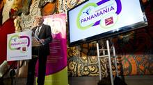 CEO of TO2015 Saad Rafi speaks as the Toronto 2015 Pan Am/Parapan Am Organizing Committee (TO2015) announces the launch of Panamania, the Toronto 2015 Arts and Culture Program in Toronto, Ontario, Tuesday April 1, 2014. (Kevin Van Paassen/The Globe and Mail)