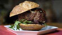 Lucy Waverman's Dijon-style hamburger with caramelized onions. (Fred Lum/Fred Lum/The Globe and Mail)