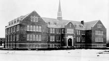 Edmonton Indian Residential School is shown in an archival photo. (LIBRARY AND ARCHIVES CANADA)