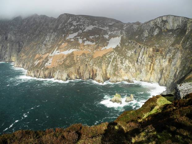 Slieve League, some of the highest sea cliffs in Europe.