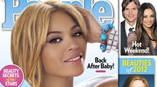 Beyoncé on the cover of People Magazine after being named the most beautiful woman in the world. (AP)