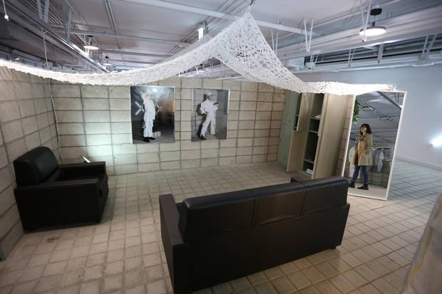 A former bunker beneath Yeouido Island in Seoul has been transformed into an art exhibit.