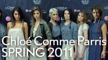 Chloe comme Parris debut at Toronto Fashion Week.