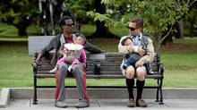 Vic (Chris Rock), left and Craig (Tom Lennon) in WHAT TO EXPECT WHEN YOU'RE EXPECTING. (Melissa Moseley/Melissa Moseley)