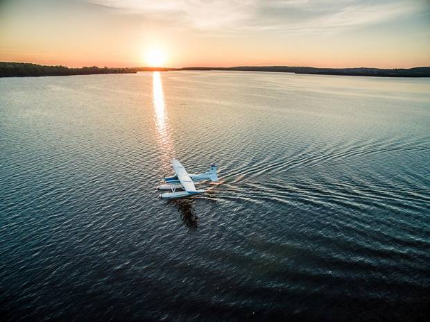 Elmhirst offers a journey across the 32-kilometre long Rice Lake in their three-seater bush plane.
