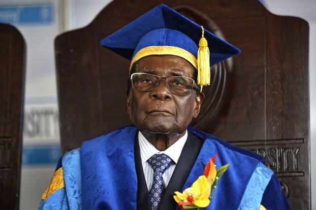 Nov. 17: In his first public appearance after being placed in military custody, Zimbabwe's President Robert Mugabe arrives to preside over a student graduation ceremony at Zimbabwe Open University on the outskirts of Harare. While still nominally Zimbabwe's leader, Mr. Mugabe has seen a swift fall from grace this week after 37 years in power.