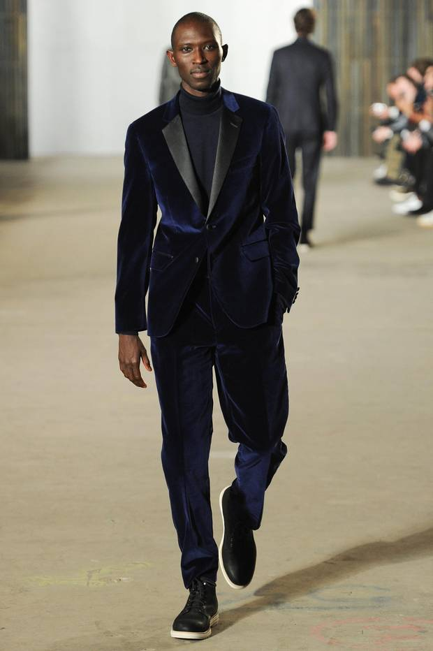Todd Snyder: Flaunting one of fall's biggest trends, this dashing velvet look will add drama to an evening outing.