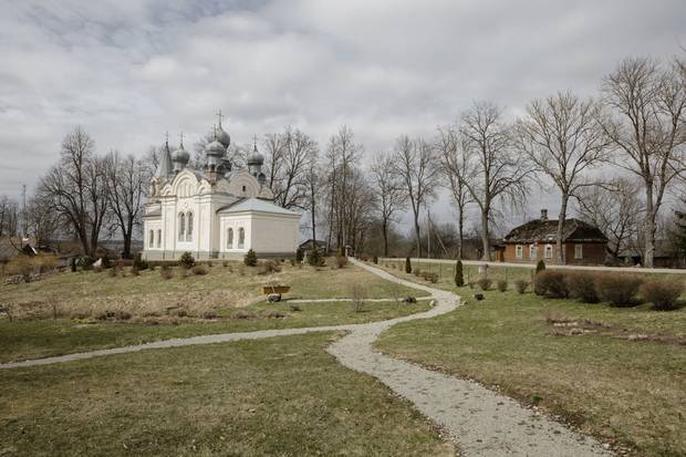 The Orthodox Church of St. Nicholas, in Piedruja, which sits near Latvia's border with Belarus, a close Russian ally.