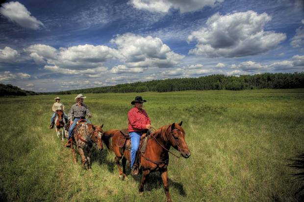 Visitors to Prince Alberta National Park can arrange a horseback tour to reach the remote southwestern grasslands.