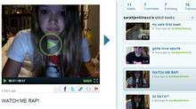Is the future of social media more rapping videos on services like Keek from young people like sarahjenkinsxo, or perhaps something with a little more depth? (Screengrab from Keek.com)