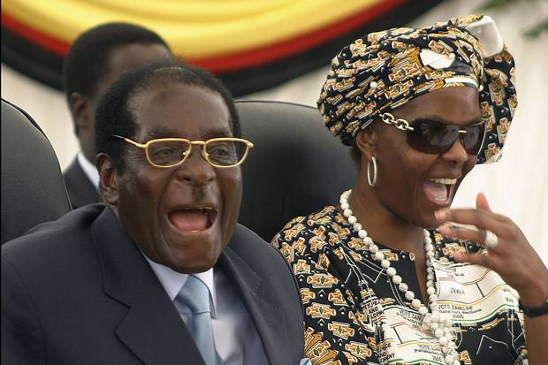 Mr. Mugabe, left, and his wife Grace, shown in 2008.