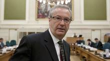 Chief Electoral Officer Marc Mayrand waits to appear before a Commons committee in Ottawa on Oct. 4, 2011. (Adrian Wyld/Adrian Wyld/The Canadian Press)