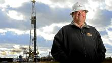 Harold Hamm, chairman of Continental Resources Inc., stands for a photo near an oil rig outside Watonga, Oklahoma, U.S., on Wednesday, Oct. 22, 2008. (LARRY SMITH/BLOOMBERG NEWS/LARRY SMITH/BLOOMBERG NEWS)