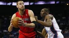Toronto Raptors centre Jonas Valanciunas has posted back-to-back 18-point efforts this week, raising his season averages to 7.6 points and 5.7 rebounds per game. (CHRIS KEANE/REUTERS)
