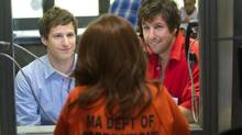 "Andy Samberg, Adam Sandler and Susan Sarandon in a scene from ""That's My Boy"" (Tracy Bennett/Tracy Bennett)"