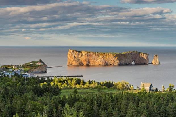 Percé, Que., is a town well known for its view of one of the world's largest natural arches, Percé Rock.