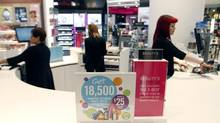 Shoppers has put a big push on high-margin beauty products, which are tightly tied to the fashion world. (FERNANDO MORALES/THE GLOBE AND MAIL)