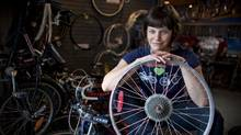 Jackie Mann, Co-Founder at the Good Life Community Bike Shop in Calgary. (Chris Bolin for The Globe and Mail)