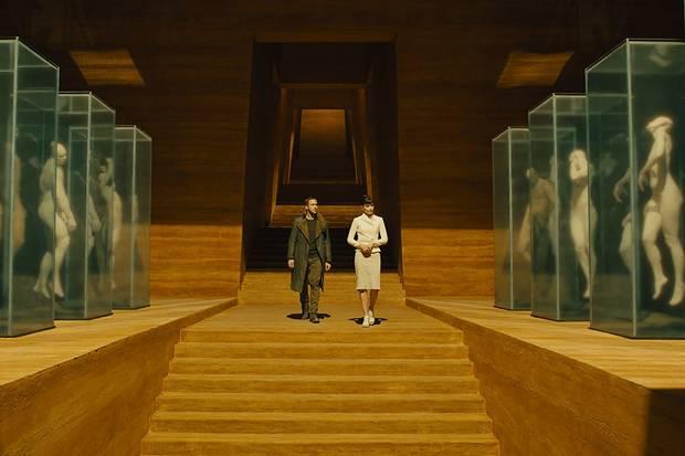 Ryan Gosling and Sylvia Hoeks in Blade Runner 2049.