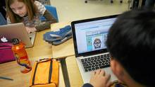 Students work on laptops connected to Wi-Fi. (Charla Jones/Charla Jones/The Globe and Mail)