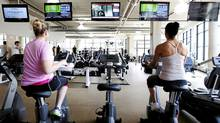 Zoom Media used Nielsen Research to find out who was watching its ads in gyms, in an effort to help advertisers target their commercials at a specific audience. Above, a Toronto fitness club with ad screens from Zoom Media, April 5, 2012. (Michelle Siu for The Globe and Mail/Michelle Siu for The Globe and Mail)