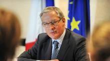 France's central bank governor Christian Noyer. (ROSLAN RAHMAN/AFP/Getty Images)