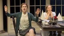 Diana Donnelly, left, plays Hannah Jarvis and Kate Besworth is Thomasina Coverly in the splendid Shaw Festival production of Tom Stoppard's Arcadia. (David Cooper/Shaw Festival)
