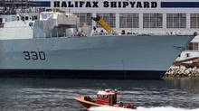 The Irving-owned Halifax Shipyard, shown in July of 2011, won the lion's share of the $35-billion national shipbuilding procurement project. (Andrew Vaughan/Andrew Vaughan/The Canadian Press)