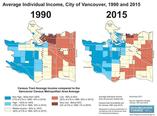 Map Of Canada Showing Vancouver.How Income Inequality Is Reshaping Metro Vancouver The Globe And Mail