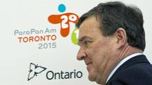 Finance Minister Jim Flaherty at a news conference on 2015 Pan Am Games in Toronto on May 11, 2012. (Frank Gunn/Frank Gunn/The Canadian Press)
