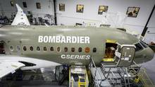 The C Series is Bombardier's $3.4-billion (Canadian) bid to expand beyond its regional and business jet franchises into the narrow-bodied segment of the large commercial airplane market. (HANDOUT/Reuters)