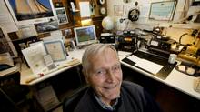 Herb Hilgenberg, is shown in his home in Burlington, Ont., on Jan. 2, 2014. He was recently awarded a Meritorious Public Service Award from the U.S. Coast Guard for helping to guide mariners through storms in the Atlantic for the past 25 years. (PETER POWER/THE GLOBE AND MAIL)
