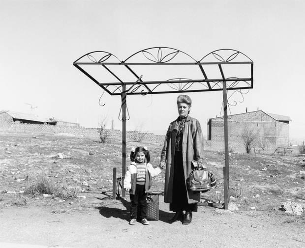 Ursula Schulz-Dornburg: Bus stops. Armenia. 2004. Erevan-Parakar (2004). Gelatin silver print.