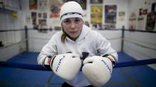Bianca Paquin, a 14-year-old boxer, trains at Titans Gym in Halifax, Tuesday. (Sándor Fizli)