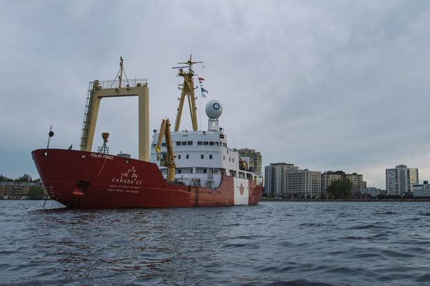The vessel Canada C3 passes by Kingston on the first leg of its 150-day expedition from Toronto to Victoria via the Northwest Passage.