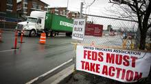 Port Metro Vancouver is suing the United Truckers Association over damage caused by what it calls disruptive protesting and property destruction. (Rafal Gerszak For The Globe and Mail)
