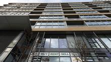 The average rent for a one-bedroom unit rented by way of the MLS was $1,583 in the latest quarter, down from $1,610 in the same quarter a year earlier. Rents for one-bedroom units have fallen for three quarters in a row now. (Fred Lum/The Globe and Mail)