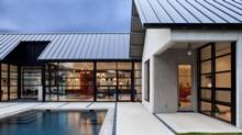 Architects are drawn to metal roofs' ability to complement their creations modernist sensibility. (Thomas McConnell)